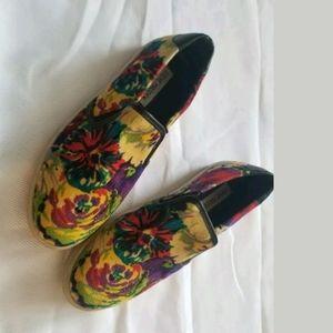 Steve Madden Bright Floral Slip On Shoes 8.5